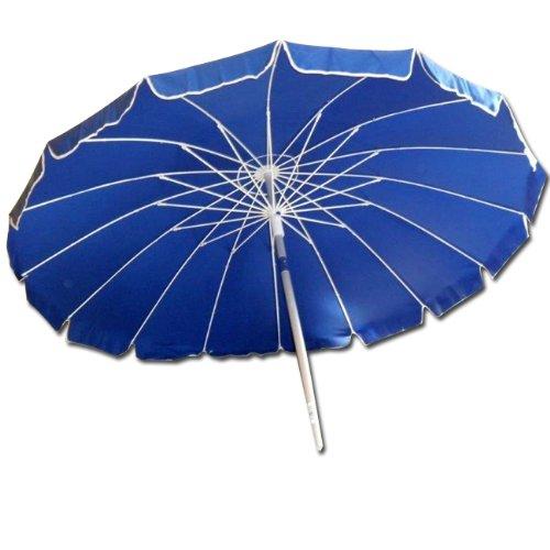 WEBMARKETPOINT Ombrellone da spiaggia 220 cm ombrellone giardino blu
