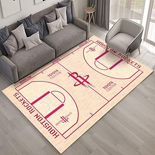 Yugy Appassionato di Basket di tappeti Squadra NBA Sede dei Razzi Stampa Creativa Tappetino Rettangolare per Bambini Nordic