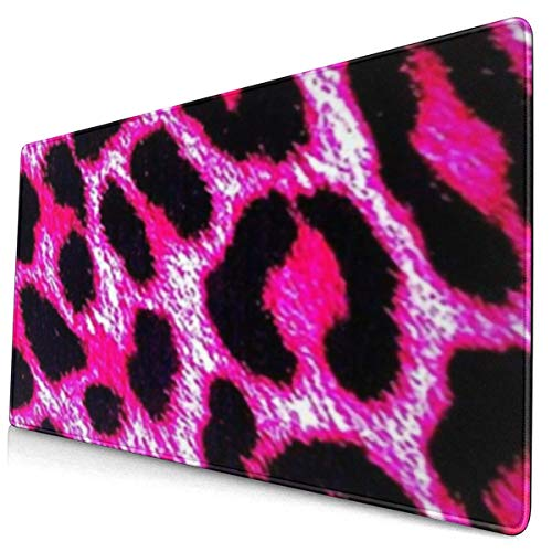 Mouse Pad Non-Slip Rubber Gaming Mouse Pad,-Pink Leopard Print