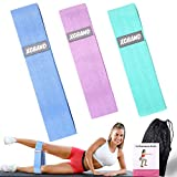 Premium Resistance Bands for Legs and Butt, Non Slip Fabric Workout Bands Set, 3 Levels Workout Bands, Extra Thick Wide Booty Bands Fitness Bands for Squat Glute Thign Hip Training-Carry Bag Included