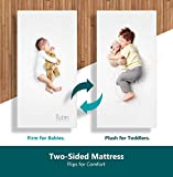 Moonlight Slumber Breathable Dual Sided Baby Crib Mattress. Firm Sided for Infants Reverse to Soft Side for...