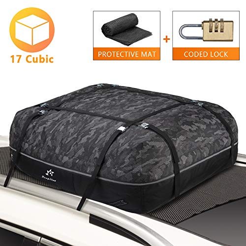 Runpilot Rooftop Cargo Carrier Bag,Waterproof Luggage Carrier for Cars Vans and SUVs with/Without Racks