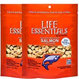 LIFE ESSENTIALS BY CAT-MAN-DOO All Natural Freeze Dried Wild Alaskan Salmon Treats for Cats & Dogs - Single Ingredient Grain Free Snack with No Additives or Preservatives, 5 Ounce Bag - 2 Pack