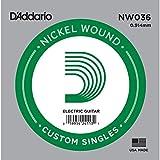 D'Addario NW036 - Cuerda para guitarra eléctrica de níquel.036