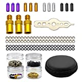 Darts Tune-up Kit Pack Dart Flight Protectors Aluminum,50 pcs Anti Skid Rubber O Rings Darts Weights Dart Shaft Ring Darts Accessories Kits Tools DIMBOI