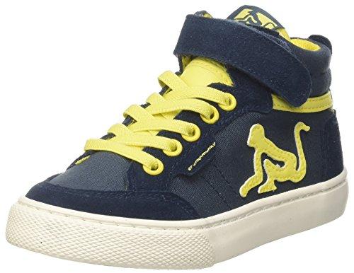 DrunknMunky Boston VITAMINIX, Sneaker a Collo Alto Bambino, Blu (Navyyellow), 29 EU