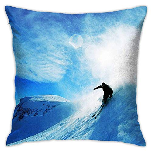 JONINOT Doble Cojines Fundas 18' Esquiar Funda de Almohada Suave para la Piel