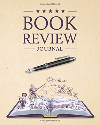 Book Review Journal: 100 Record Pages For Book Lovers | Opened Book and Pen (Books Review Notebooks)