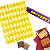 Tool Gadget Cookie Stamps, 72 Pcs Alphabet Number & Letter Cookie Biscuit Stamp for Cookie Decorations Embosser Cutter Fondant DIY Tool