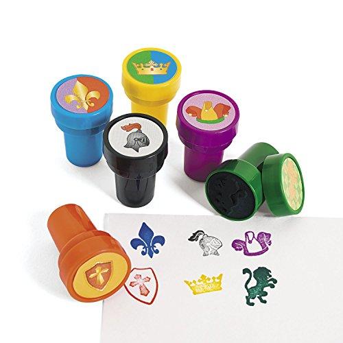 cama24com Kinderstempel Ritter Mittelalter mit 6 verschiedenen Motiven Mitgebsel mit Palandi® Sticker