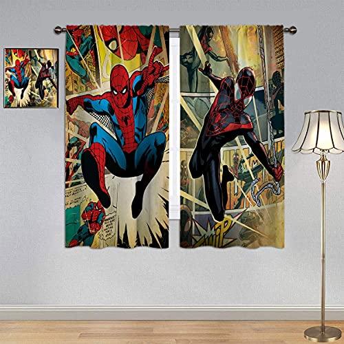 Sp_iderman Super Hero Comic - Cortina de ventana para habitación infantil (150 x 100 cm)