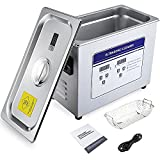 Anbull 4.5L Professional Ultrasonic Cleaner Machine with 304 Stainless Steel and Digital Timer Heater for Jewelry Watch Coin Glass Circuit Board Dentures Small Parts