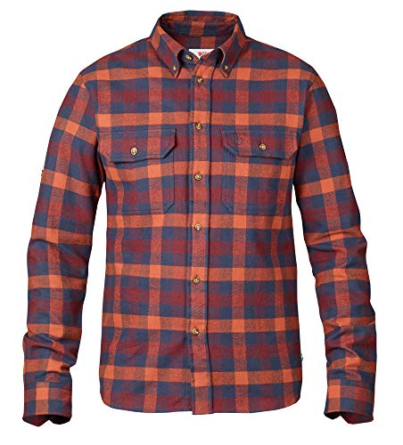 FJÄLLRÄVEN Skog Shirt à Manches Longues Homme, Navy, FR : L (Taille Fabricant : L)