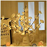 Phoetya Luz de rama, luces LED Phalaenopsis ramas de árbol, luces decorativas alimentadas con pilas, luz de ramita de sauce para decoración de jardín de fiesta de Navidad (blanco)