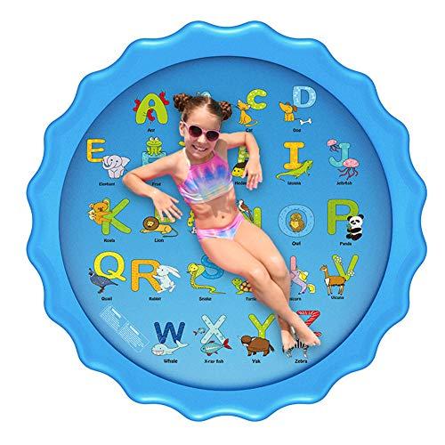 Taloit Splash Pad, Splash Play Mat - Alfombrilla para juegos de agua (170 cm, rociador de agua para césped y playa