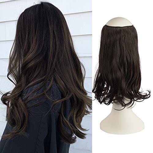FESHFEN Halo Extensions, Haarteile Halo Haarverlängerungen Haar extension, Synthetische Secret Hair Extension, 36 cm 125g