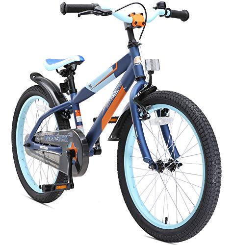 BIKESTAR Kinderfahrrad 20 Zoll für Mädchen und Jungen ab 6 Jahre | 20er Kinderrad Mountainbike | Fahrrad für Kinder Blau & Orange | Risikofrei Testen