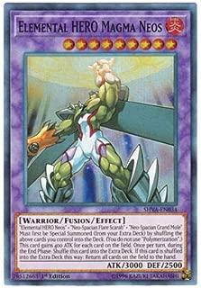 Yu-Gi-Oh! English Version SHVA-EN 034 Elemental Hero Magma Neos E _ Hero Magma _ Neos (Superlea) 1st Edition