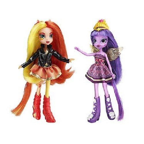 My Little Pony 2 Figurines de Poney Éclat du crépuscule Coucher de Soleil étincelant