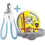 dothnix Collares Antiparasitos para Perros y Gatos contra Pulgas, Garrapatas y Mosquitos, 8 Meses de Protección, con Cortaúñas Tijera de Uñas para Mascotas(55cm)