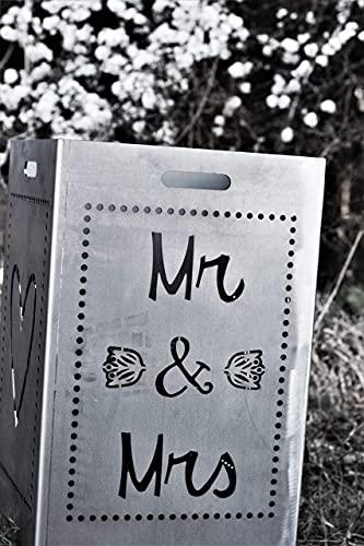 Metallfuxx Feuerkorb Hochzeit Mr&Mrs (individualisierbar) - Geschenk