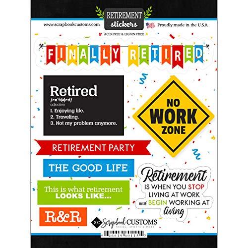 Scrapbook Customs Happy Retirement Cardstock Scrapbook Stickers