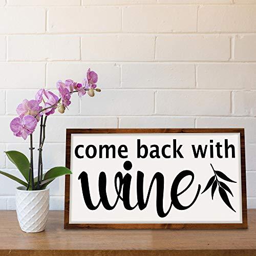 Onbekend Gift WOOD SIGN Kom terug Met Wijn houten bord handgemaakte bruidsmeisje gift bruiloft geschenk rustieke houten bord boerderij decor