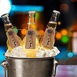GoMaihe 50 Stücke Schlüssel Flaschenöffner, 5 Stile Vintage Flaschenöffner Schlüsselanhänger, Durchsichtige Tasche, Geschenkanhänger, Gastgeschenke Hochzeit Tischdeko Geburtstag Hochzeit Bieröffner - 7