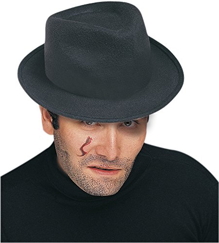Rubies - Sombrero de gánster, color negro (F09)