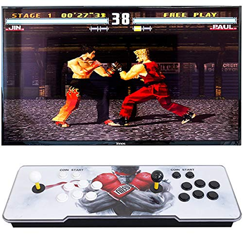 J2 Pandora'S Box 9D Series Full HD Video Arcade Game Console, 2700 3D 2D Games, 1280x720P, Support PS3 PC TV, Upgraded CPU, 2 Players
