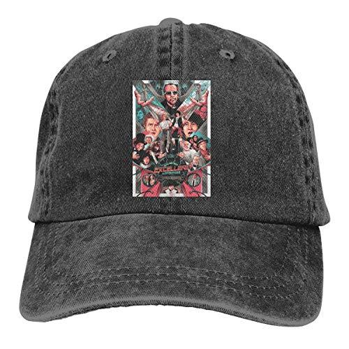 FUGVO Diseño de impresión Sombreros Personalizados Black Bill & Ted's Excellent Adventure One Size Casquette Cowboy Hat