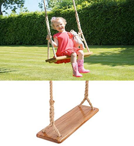 Tree Swing Seat Hanging Wooden Tree Swings for Children Kids Garden,Yard, Indoor, Elm Wood Durable...