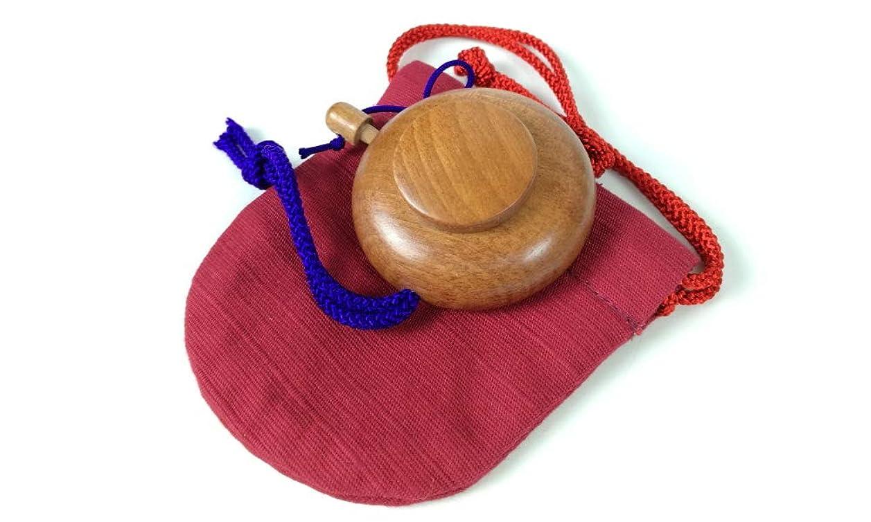 全部あまりにも法的塗香入れ 桜 黒檀 紫檀 サイズ選択 小 大 塗香入れ袋付き 携帯用 (小, 桜赤)