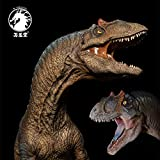 W-Dragon Studio 1/35 Scale Allosaurus fragilis Statue Blue Tongue Pool Base Realistic Large Jurassic Dinosaur Figure Animal Model Collector Toys Decoration Gift for Adult