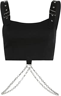Women Sexy Adjustable Buckle Bandeau Vest Crop Tops - Bralette Tops for Festivals, Raves