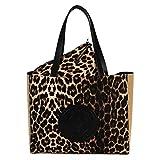 LOLA CASADEMUNT Bolso Shopper Animal Print Leopardo Centro Logotipo
