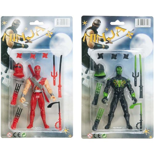 WDK PARTNER - A1200072 - Figurines - Ninja 14 cm + accessoires
