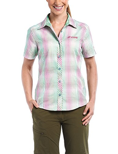 Maier Sports Damen Bluse Gusana, Pink/Green Check, 50