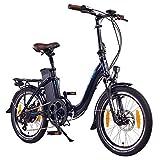NCM Paris Bicicleta eléctrica Plegable, 250W, Batería 36V 15Ah • 540Wh (Azul)
