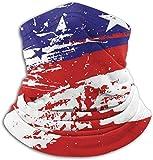 Xarchy Amerikanische Flagge Graffiti Kunst Fleece Nackenwärmer Winter Winddicht Motorrad Gesichtsmaske Sturmhaube Halbmaske Für Frauen Männer