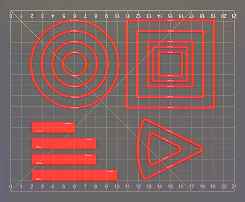 Area of Effect Spell Templates Set of 15 (Included Cube, Cone, Circle, and Line) Acrylic AOE Damage Marker Tabtop RPG Gaming Accessories for Dungeons and Dragons, Pathfinder, D&D