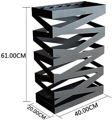 CRRQQ 幾何学的な設計の金属の傘のホールダーの家の傘は現代傘の棚を立てます (Color : Gold)