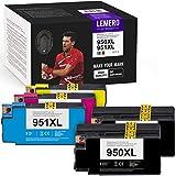 LEMERO Utrust 950XL 951XL Tintenpatrone Kompatibel für HP 950 951 XL für HP Officejet Pro 8100 8600 8600 Plus 8610 8615 8620 8625 8630 8640 8660 251dw 276dw Drucker (5-Pack)