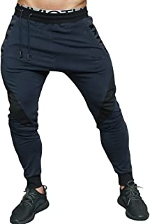 BOOMLEMON Men's Gym Workout Pants Joggers Zipper Ankle Running Sweatpants with Pockets