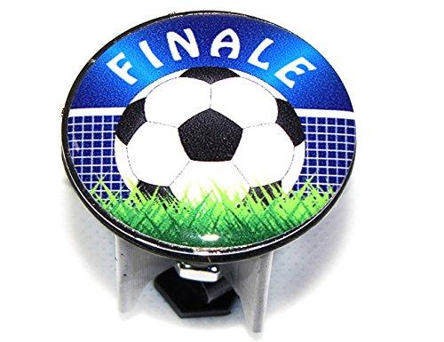 WENKO WASCHBECKEN STÖPSEL PLUGGY FUßBALL WM FINALE ABFLUSS-STOPFEN, MESSING, KUNSTSTOFF, DURCHMESSER 3.9X6.5 - 9.5 CM