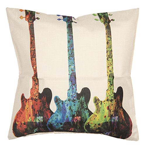 Clayre & Eef KT021.200 Kissenhülle Gitarren Ca. 43 x 43 cm