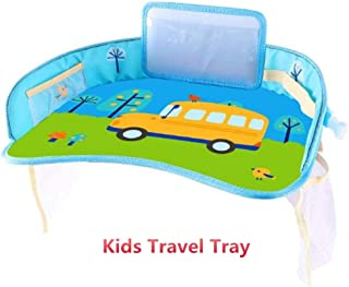 Kids Travel Tray for Toddler, Car seat Tray, Kids Travel Play Tray, Food & Snack Tray with Tablet Holder, Stroller, and High Chair