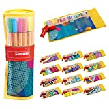 Rotulador puntafina STABILO point 88 - Estuche de tela Rollerset Individual Just Like You con 25 colores