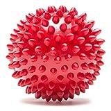 XYL Spiked Ball Massageball Massagekugel Plantarfaszie und die Ausbildung von Hand Igel Ball durch die Membran Teil der Muskelspannung Fußreflexzonenmassage rot