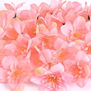 BoKa Store – 50Pcs/Lot DIY Wedding Home Decor Orchid Artificial Flower Head for Wreath Scrapbooking Box Gift Delphinium Fake Flower Craft – Pink – 50pcs Decorative Flowers